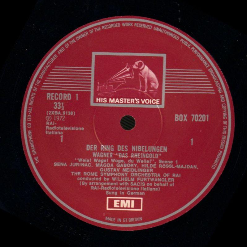 Wagner 18 X Vinyl Lp Box Set Die Ring Des Nibelungen Emi