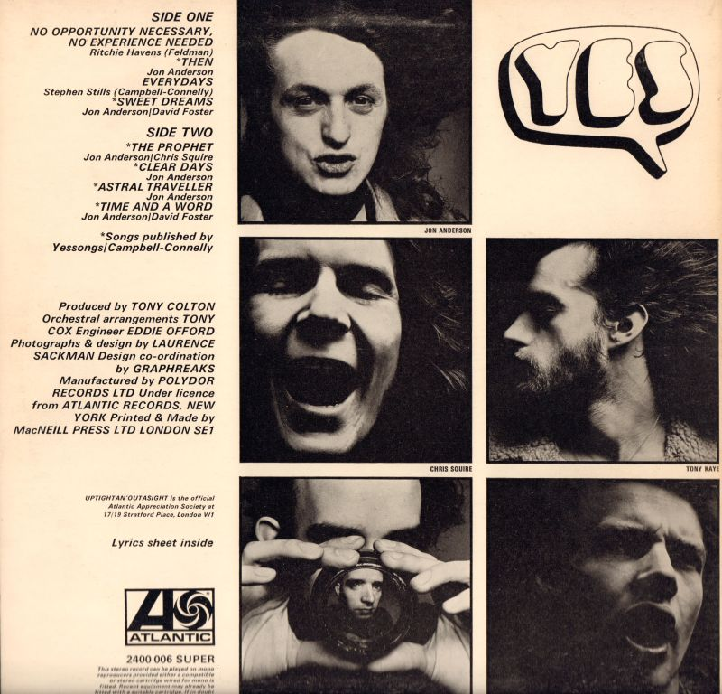 Yes Vinyl Lp Time And A Word Atlantic 2400 006 Uk 1970 Vg